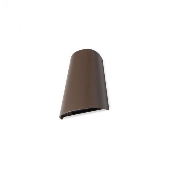 Aplica exterior Redo TWILL 9542 LED SMD 12W, distributie luminoasa directa-indirecta, maro