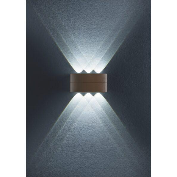 Serie de aplice LED pentru exterior cu dispersie directa/indirecta Redo FABO