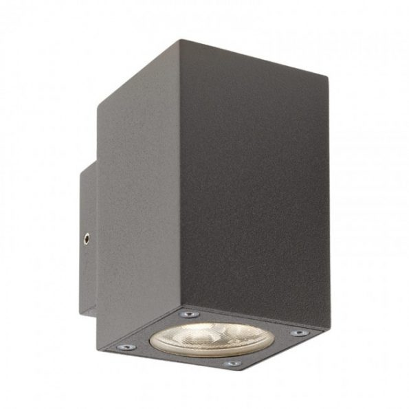 """Redo MINIBOX 9911 - Aplică pentru exterior, echipată cu LED-uri, dispersie luminoasă directă/indirectă cu efect de lumină """"wall washer"""""""
