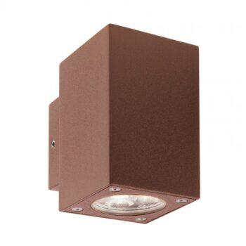 """Redo MINIBOX 9912 - Aplică pentru exterior, echipată cu LED-uri, dispersie luminoasă directă/indirectă cu efect de lumină """"wall washer"""""""