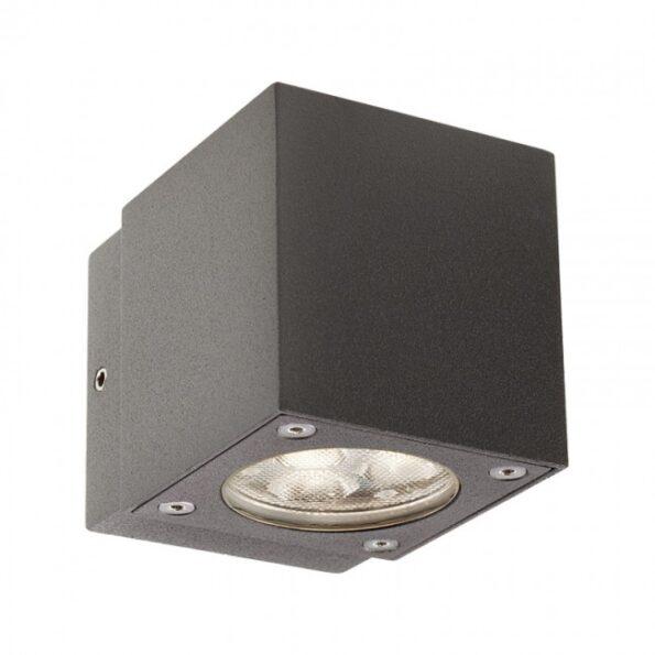 """Redo MINIBOX 9913 - Aplică pentru exterior, echipată cu LED-uri, dispersie luminoasă directă/indirectă cu efect de lumină """"wall washer"""""""