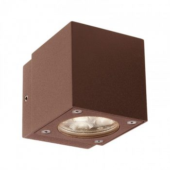 """Redo MINIBOX 9914 - Aplică pentru exterior, echipată cu LED-uri, dispersie luminoasă directă/indirectă cu efect de lumină """"wall washer"""""""