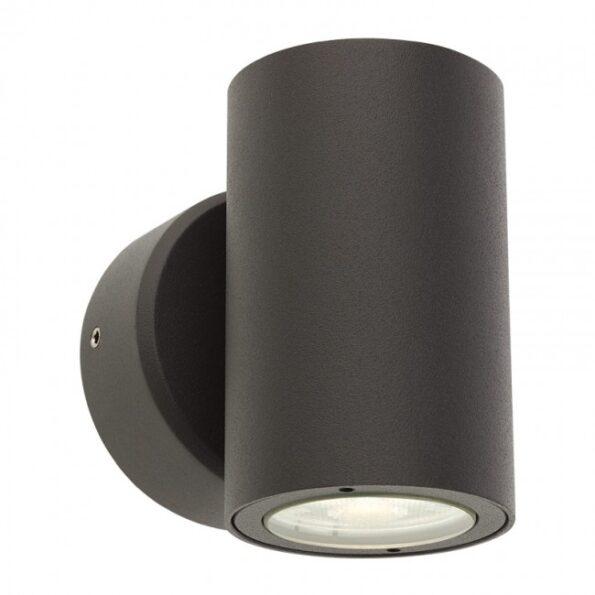 """Redo MINIROUND 9921 - Aplică pentru exterior, echipată LED 2 x 3W, dispersie luminoasă directă/indirectă cu efect de lumină """"wall washer"""""""