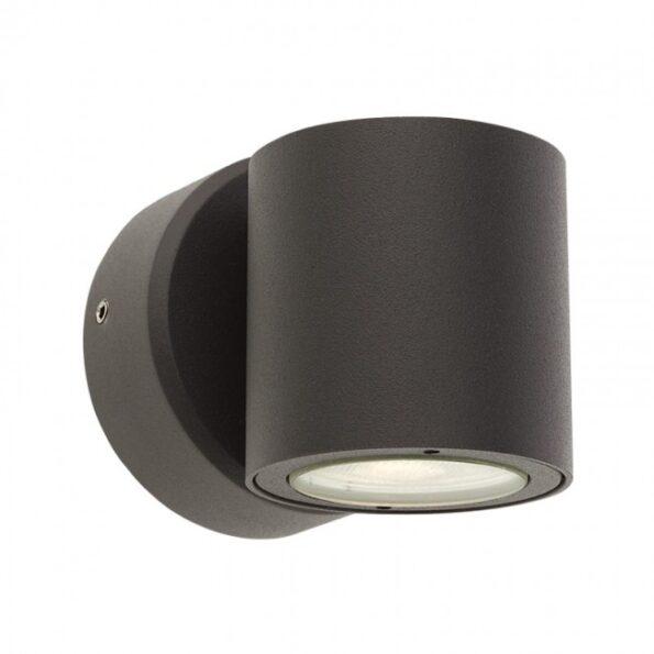 """Redo MINIROUND 9923 - Aplică pentru exterior, echipată cu LED-uri, dispersie luminoasă directă/indirectă cu efect de lumină """"wall washer""""."""