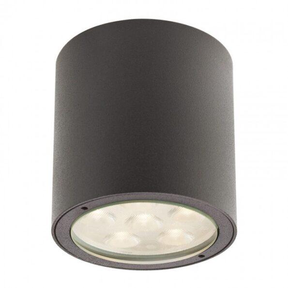 """Plafonieră exterior LED 6W Redo ROUND, 9929 dispersie directă/indirectă, efect """"wall washer"""""""
