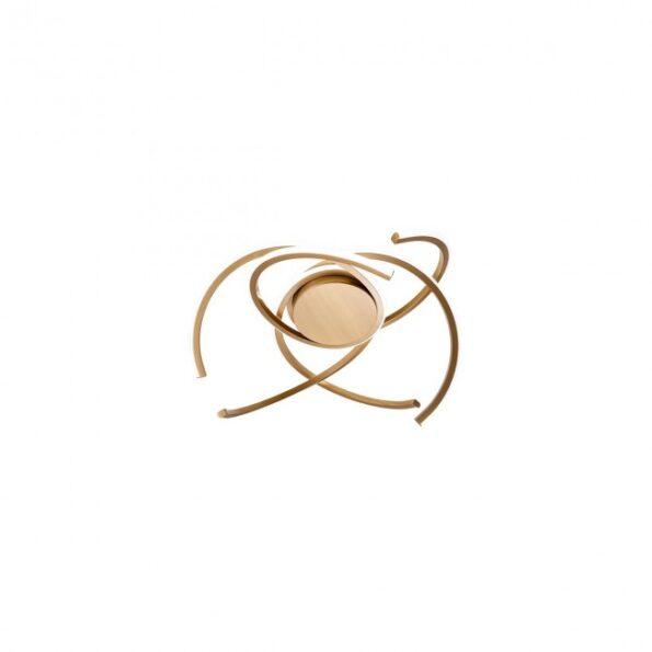 Redo ALIEN 01-1800 - Plafonieră pentru interior echipată cu LED-uri SMD, structură din aluminiu și metal finisat bronz